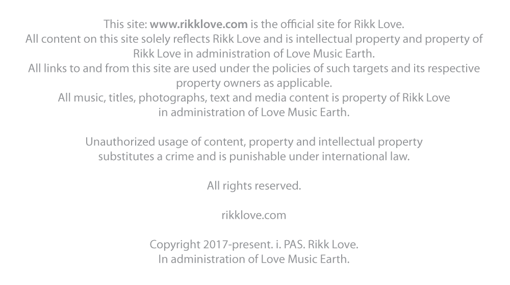 www.rikklove.com - rights & copyright.